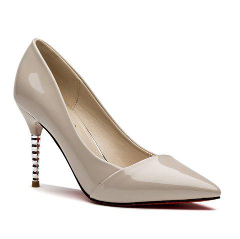 Female Stilettos and Pointy Shoes - BEIGE 36