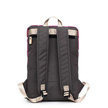 Computer Backpack Men Women Fashion Trendy Student New Outdoor Leisure Bag - ROSE RED VERTICAL