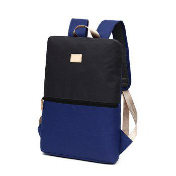 Computer Backpack Men Women Fashion Trendy Student New Outdoor Leisure Bag - BLUE VERTICAL