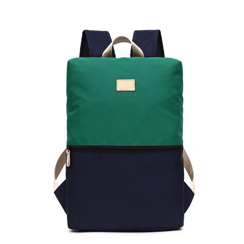 Computer Backpack Men Women Fashion Trendy Student New Outdoor Leisure Bag - GREEN VERTICAL