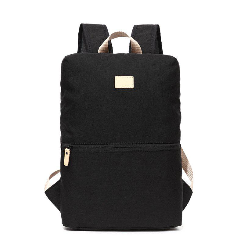 Computer Backpack Men Women Fashion Trendy Student New Outdoor Leisure Bag - BLACK VERTICAL