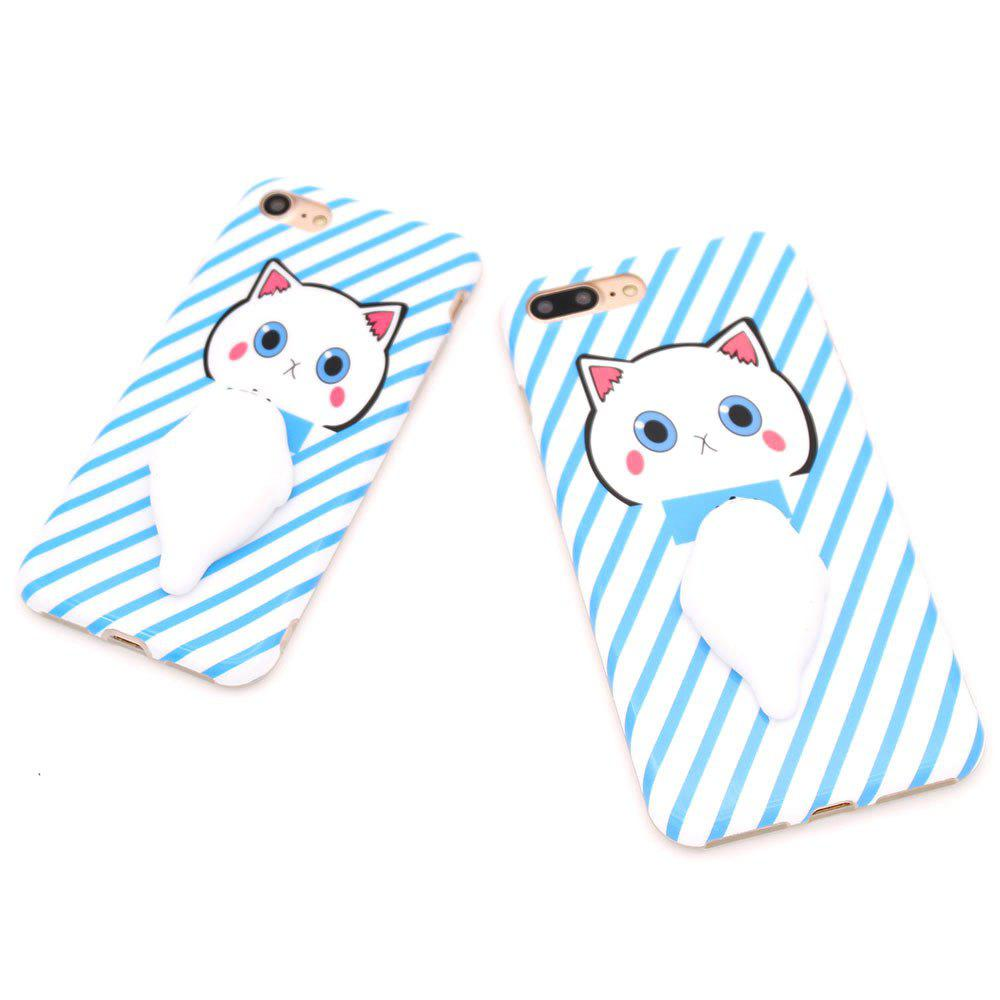 Decompression Doll Mobile Phone Shell for Iphnoe7 Plus - BLUE