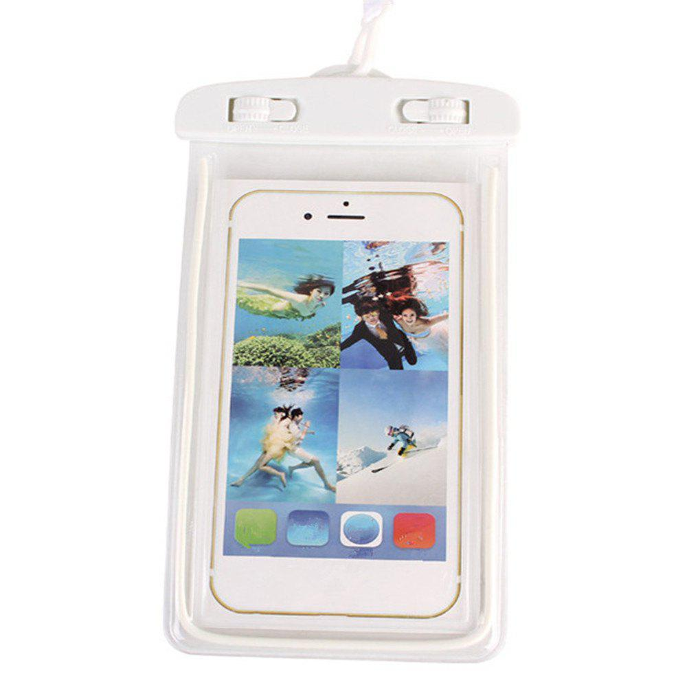 Luminous Mobile Phone Waterproof Bag - WHITE
