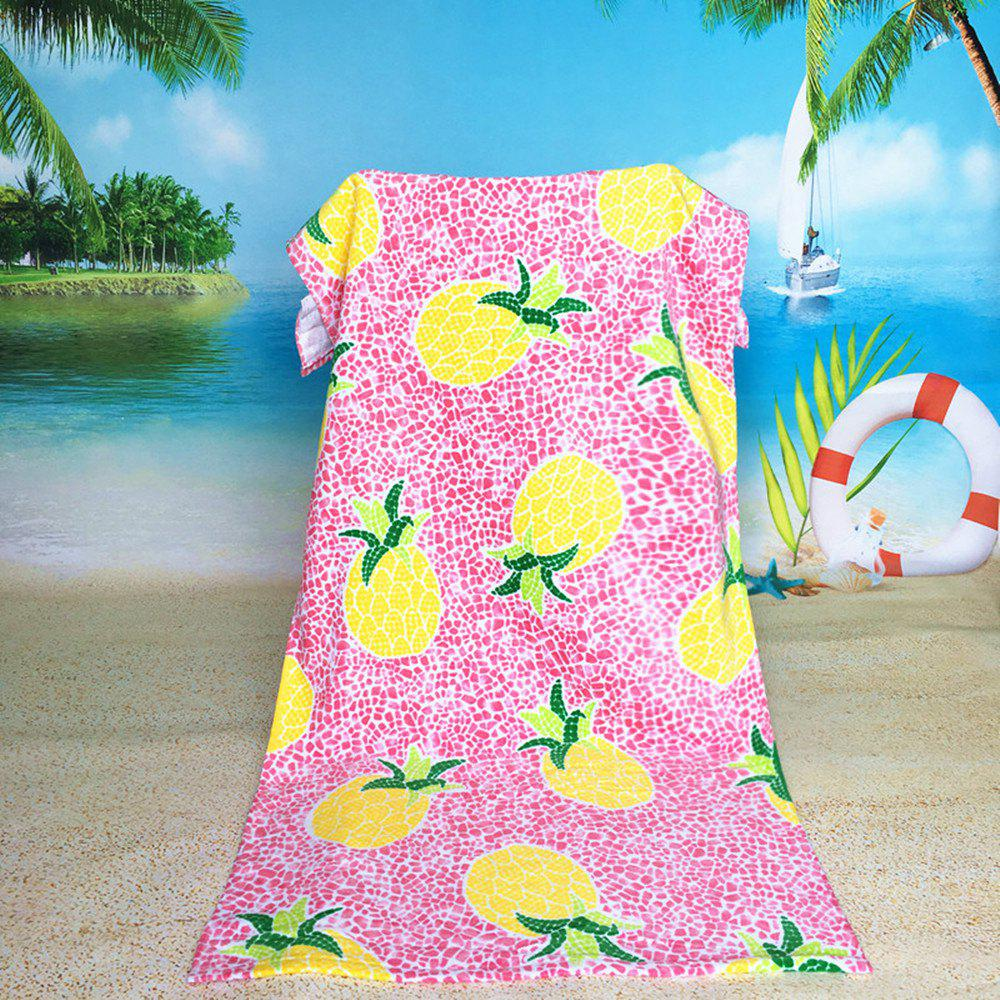 Printed Cotton Beach Towels - PINK