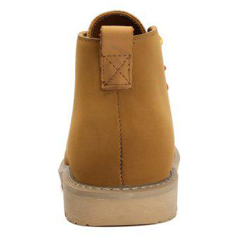 Boots Solid Color Durable Comfy Lacing Shoes - YELLOW 39