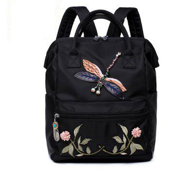 Chinese Embroidery Flower Backpack Women  Waterproof School
