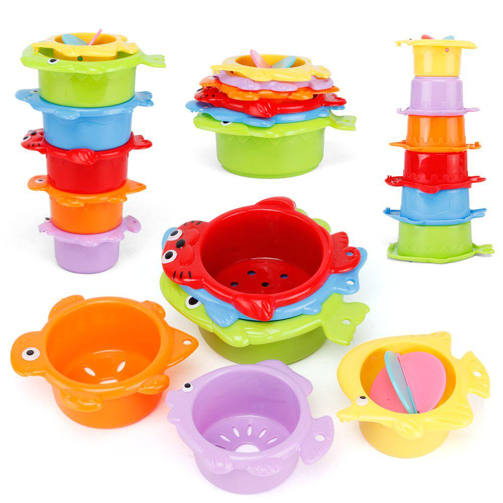 Baby Stacking Folding Cup Enlightenment Parent-child Bathroom Water Bath Toy 254514801