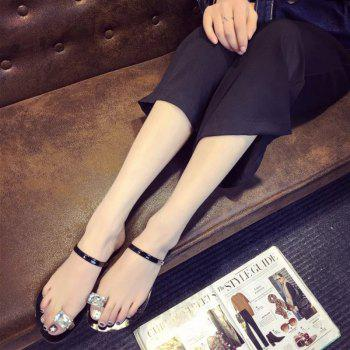 2018 New Style Fasion Solid Color Simple Ladies' Slippers - BLACK 37