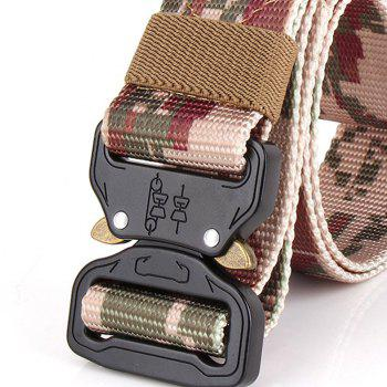 Men's Casual Outdoor Military Tactical Polyester Waistband Canvas Web Belt - URBAN CAMOUFLAGE