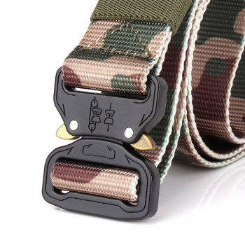 Men's Casual Outdoor Military Tactical Polyester Waistband Canvas Web Belt - JUNGLE CAMOUFLAGE