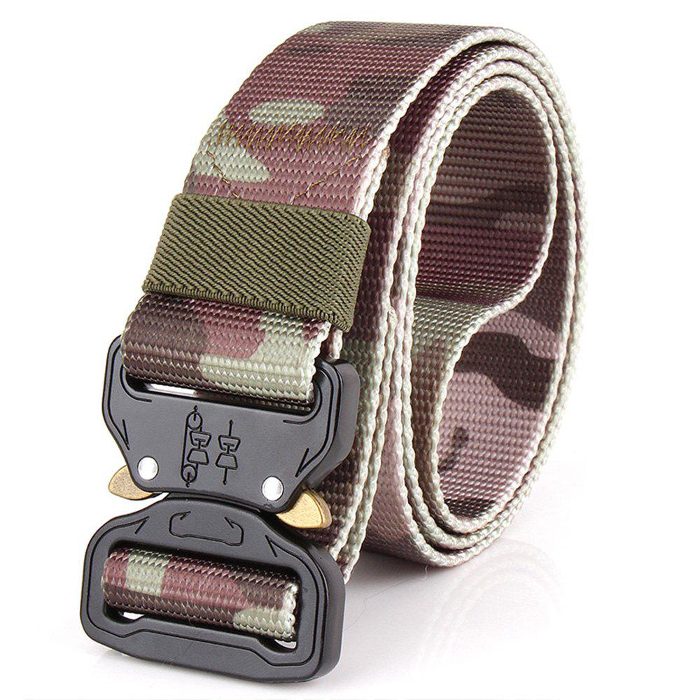 Men's Casual Outdoor Military Tactical Polyester Waistband Canvas Web Belt - CAMOUFLAGE