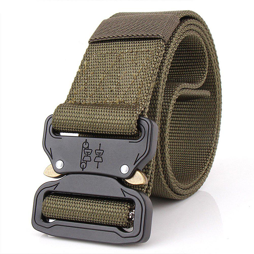 Aluminum Alloy Buckle Belt Men's Belt Nylon Training Waistband - ARMYGREEN