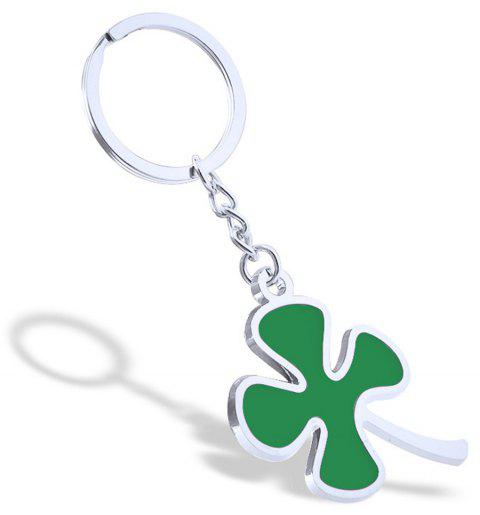 Fashion Clover Keychain Metal Key Ring Creative Gift - SILVER