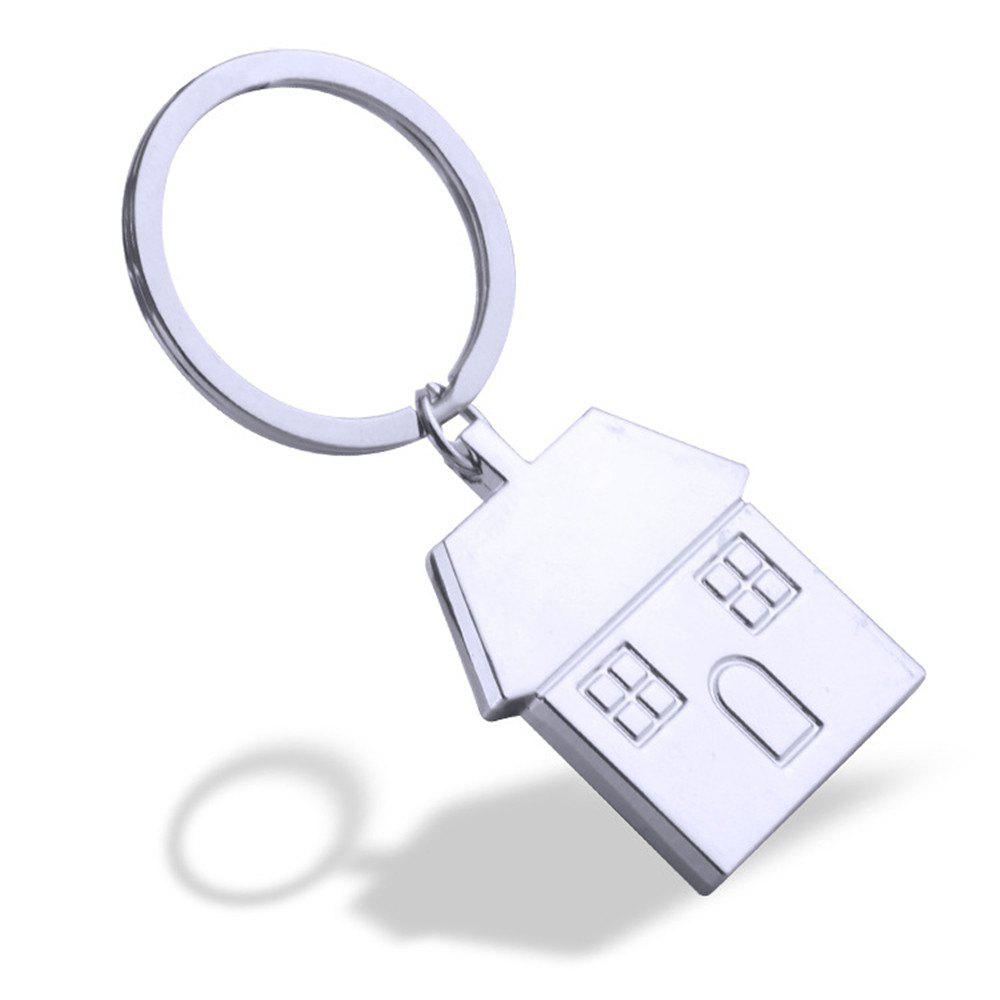 House Keychain Metal Key Ring Creative Gift - SILVER