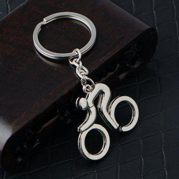 Bicycle Keychain Metal Key Ring Creative Gift - SILVER