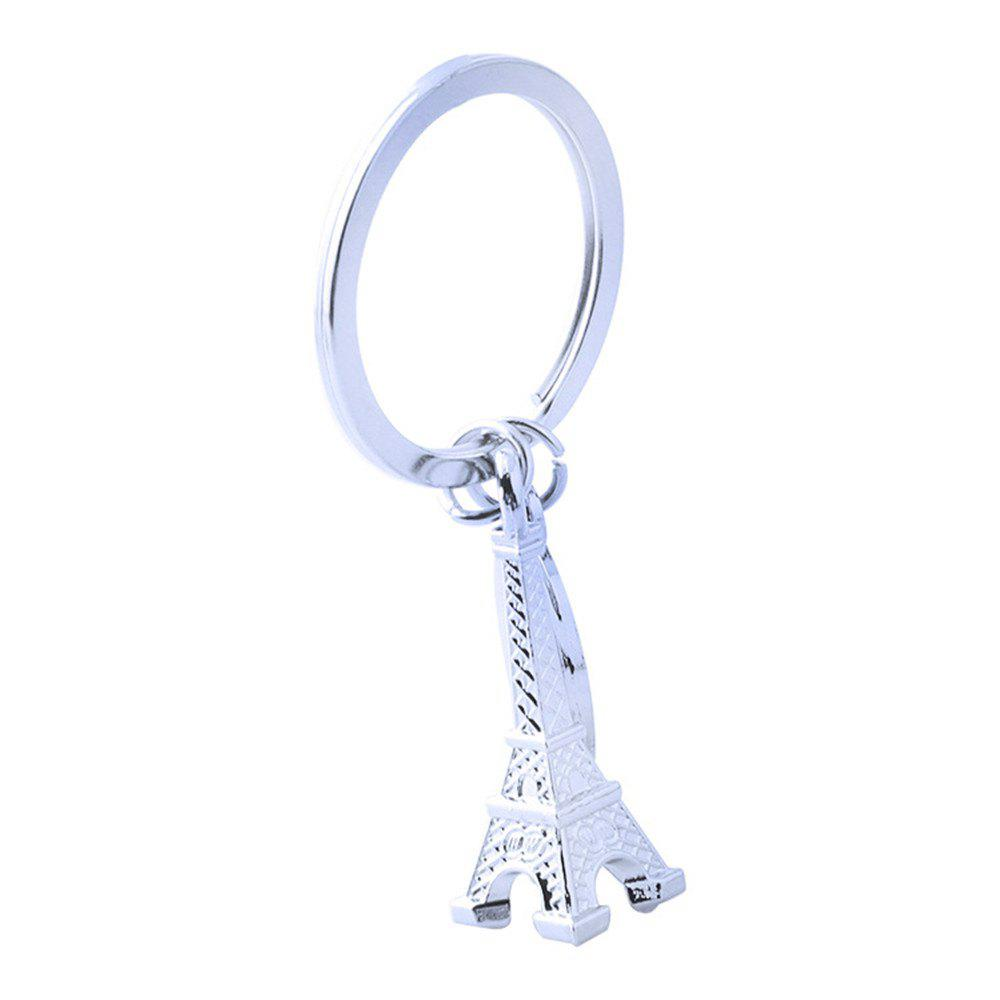 Eiffel Tower Keychain Metal Key Ring Creative Gift - SILVER