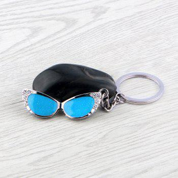 Glasses Keychain Metal Key Ring Creative Gift - SILVER