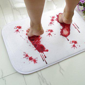 Tapis antidérapant Creative Blood Footprint - Blanc