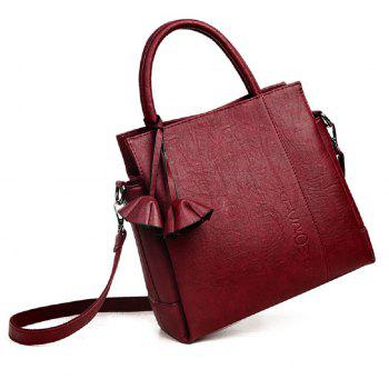 Soft Leather Contracted Joker Messenger Bag - RED