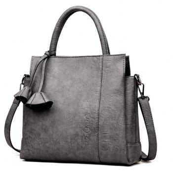 Soft Leather Contracted Joker Messenger Bag - GRAY