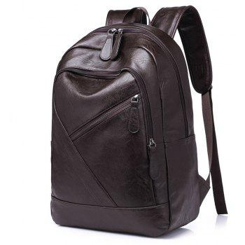 New Fashions And Large Capacity Men's Shoulder Knapsack - BROWN