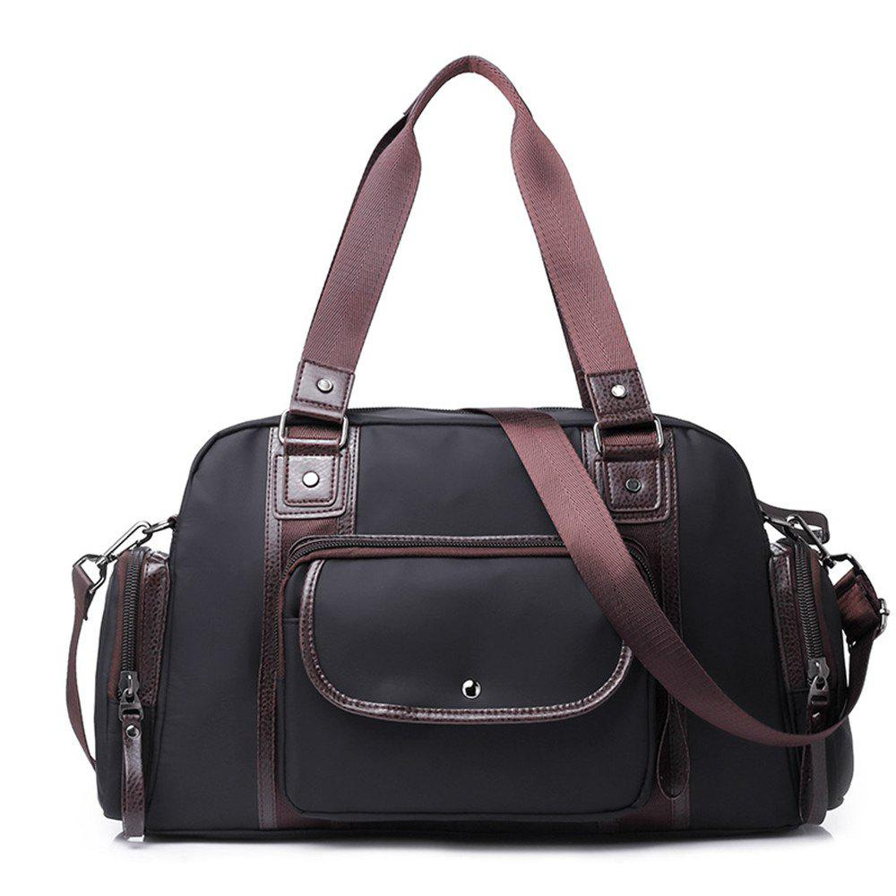 New Fashion And Large Capacity Men's Handbag - BLACK
