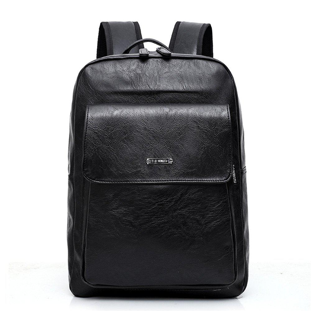 Large Capacity Men's Shoulder Knapsack - BLACK