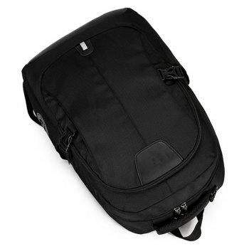 Multi Function Travel Computer Backpack - BLACK
