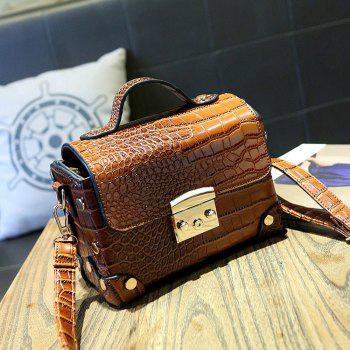 Women Shoulder Bags Fashion Mini Cross Body Handbags Trendy Bags - BROWN