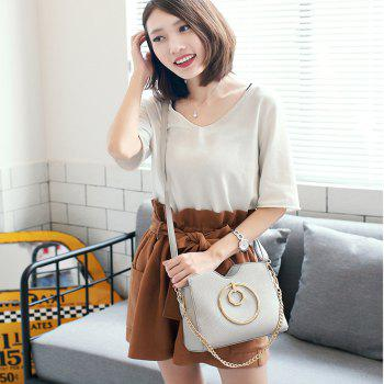 Women's Fashion Crossbody Bag PU Leather Purses Shoulder Tote Chain Strap Bag - GRAY