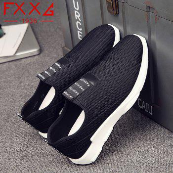 Sports Fly Weaving Cloth Shoes - BLACK 38