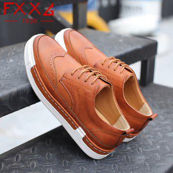 Bullock Casual Shoes Leather Shoes - BROWN 40