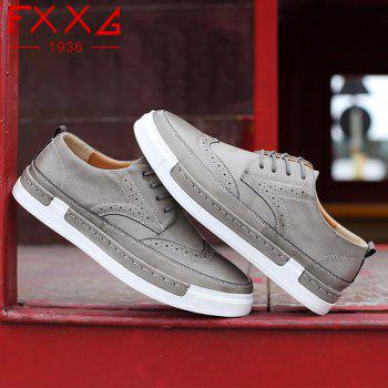Bullock Casual Shoes Leather Shoes - GRAY 40