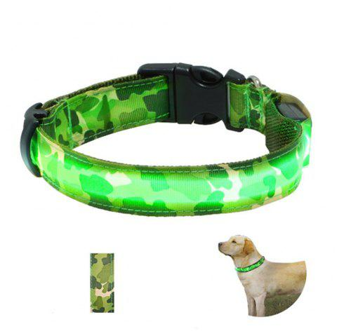 Yeshold High-end LED Camouflage Pet Collar - ARMY GREEN CAMOUFLAGE
