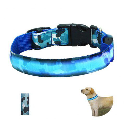 Yeshold High-end LED Camouflage Pet Collar - BLUE