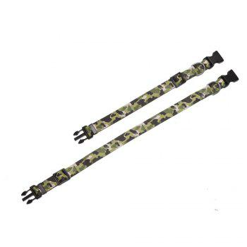 Yeshold Col haut de gamme LED camouflage pour animaux de compagnie - VERT D'ARMEE Camouflage