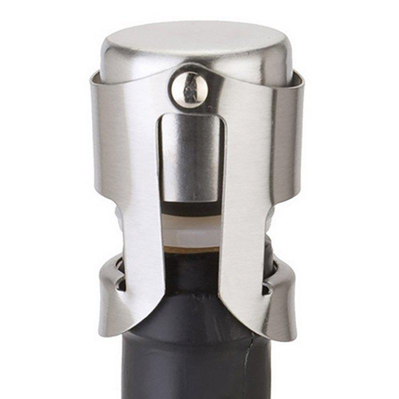 DIHE Seal Red Wine Champagne Skid Resistance Stainless Steel Bottle Stopper - SILVER