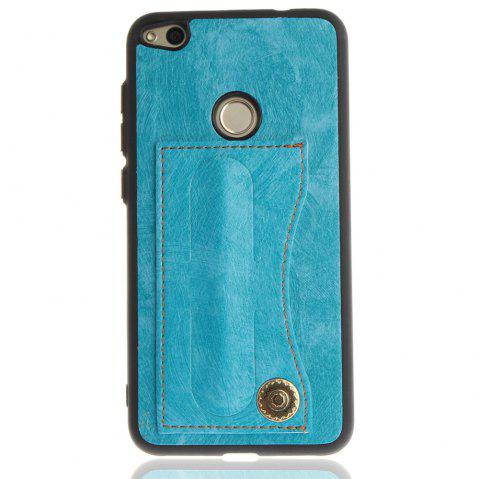 Case Cover for Huawei P8 Lite 2017 / Honour 8 Lite Luxury PU Leather with Stand and Card Slots - WINDSOR BLUE