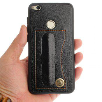 Case Cover for Huawei P8 Lite 2017 / Honour 8 Lite Luxury PU Leather with Stand and Card Slots - BLACK