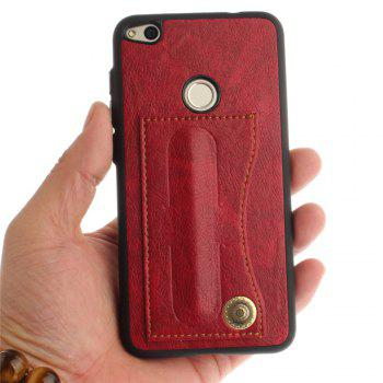 Case Cover for Huawei P8 Lite 2017 / Honour 8 Lite Luxury PU Leather with Stand and Card Slots - RED