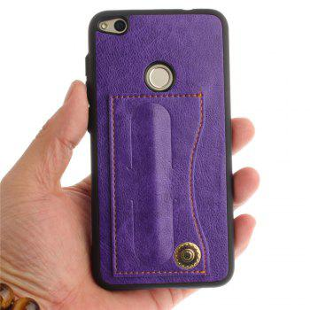 Case Cover for Huawei P8 Lite 2017 / Honour 8 Lite Luxury PU Leather with Stand and Card Slots - PURPLE