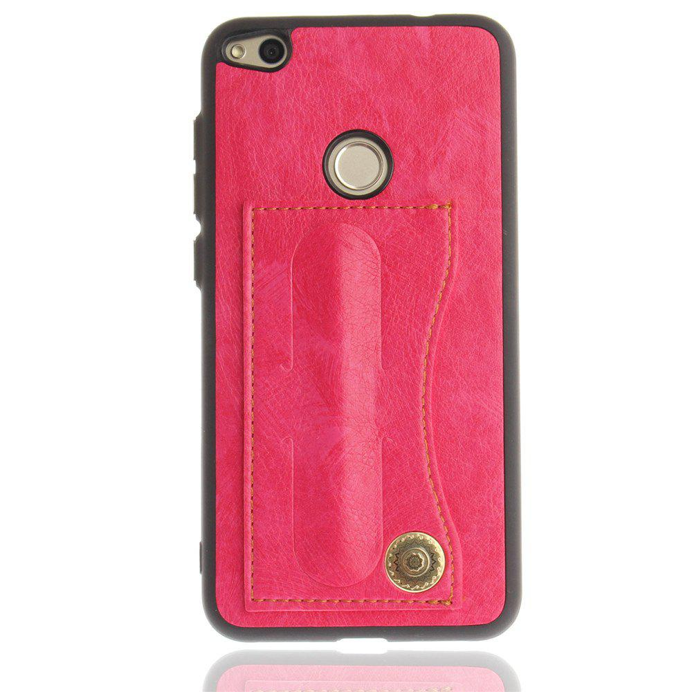 Case Cover for Huawei P8 Lite 2017 / Honour 8 Lite Luxury PU Leather with Stand and Card Slots - ROSE RED