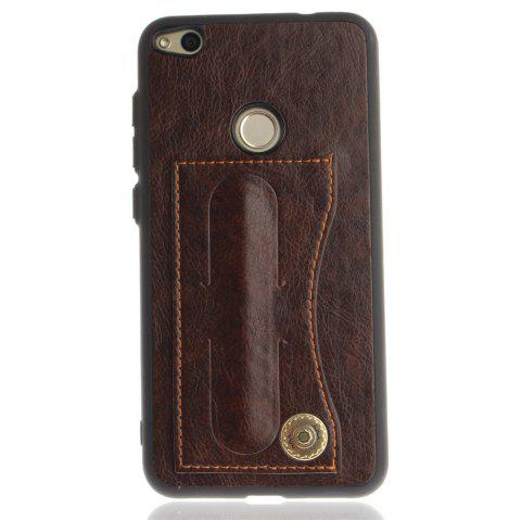 Case Cover for Huawei P10 Lite  Luxury PU Leather with Stand and Card Slots - BROWN