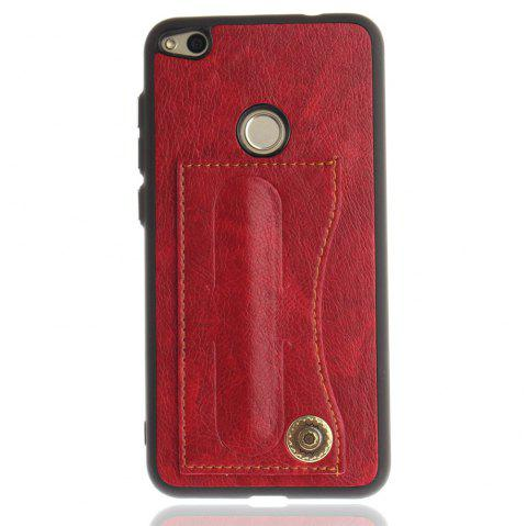 Case Cover for Huawei P10 Lite  Luxury PU Leather with Stand and Card Slots - RED