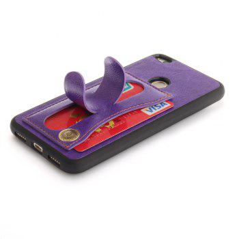 Case Cover for Huawei P10 Lite  Luxury PU Leather with Stand and Card Slots - PURPLE