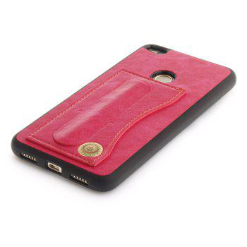 Case Cover for Huawei P10 Lite  Luxury PU Leather with Stand and Card Slots - ROSE RED