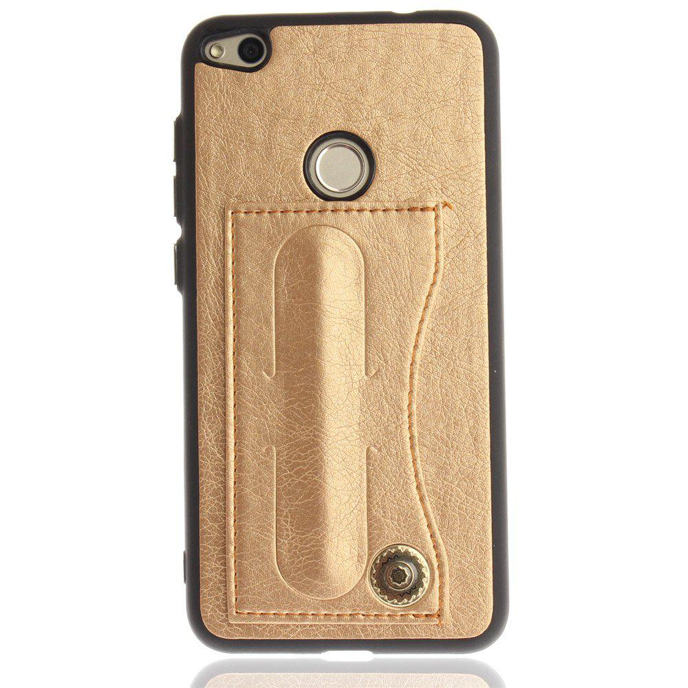 Case Cover for Huawei P10 Lite  Luxury PU Leather with Stand and Card Slots - GOLDEN