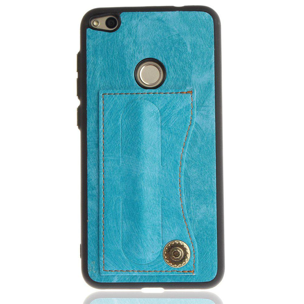 Case Cover for Huawei P10 Lite  Luxury PU Leather with Stand and Card Slots - WINDSOR BLUE
