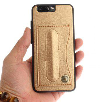 Case Cover for Huawei P10 Luxury PU Leather with Stand and Card Slots - GOLDEN