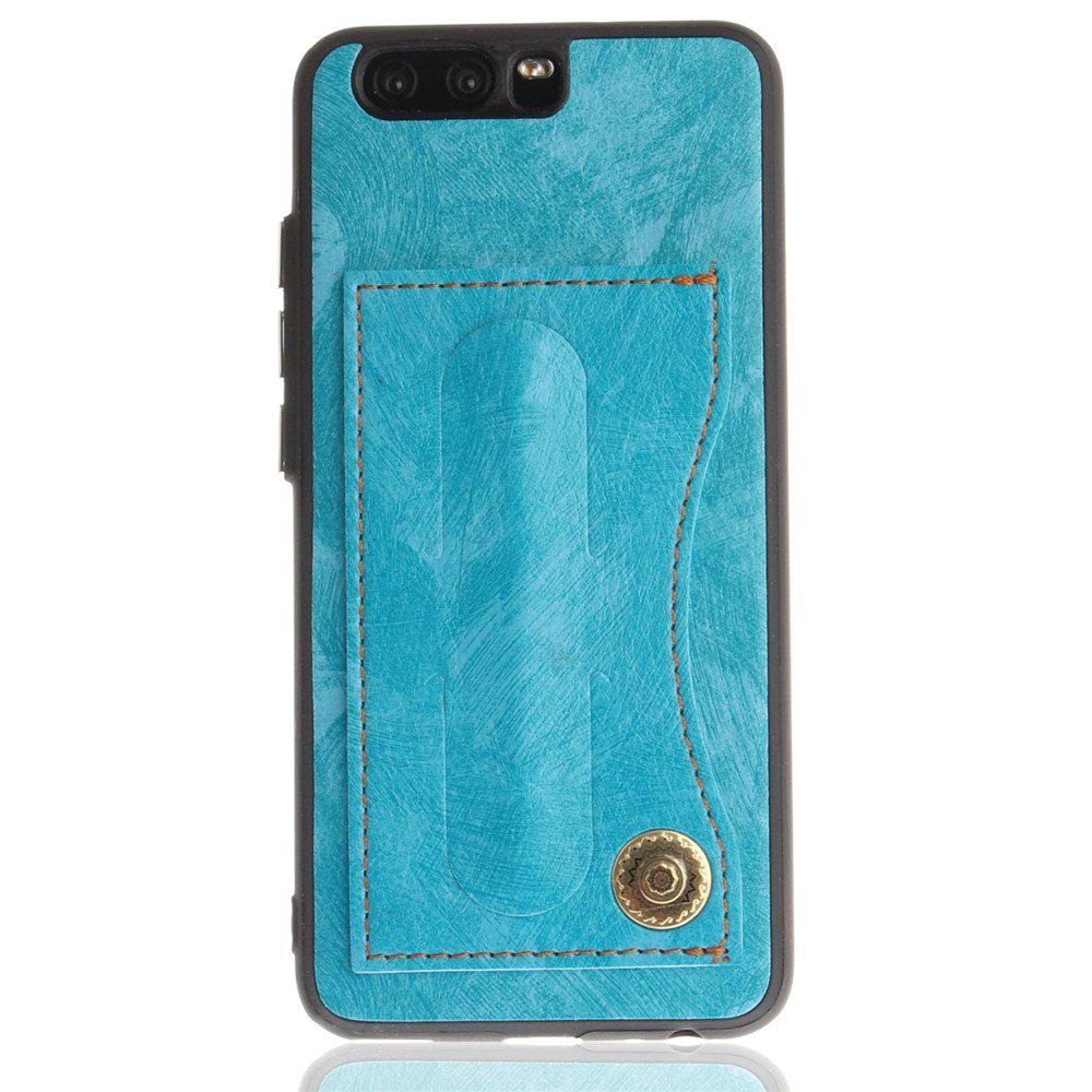 Case Cover for Huawei P10 Luxury PU Leather with Stand and Card Slots - WINDSOR BLUE